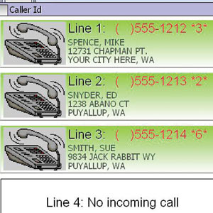 Caller ID example in SelbySoft