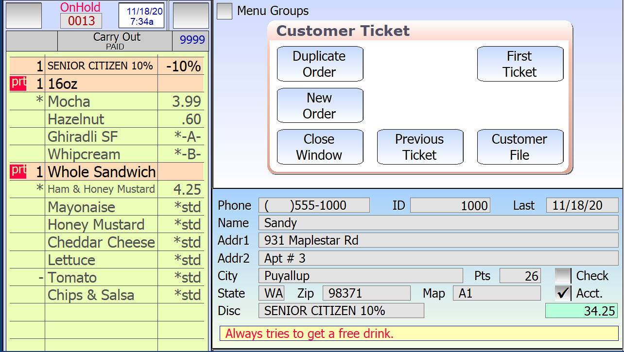 Duplicate order in SelbySoft POS