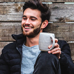 Smiling man with Coffee