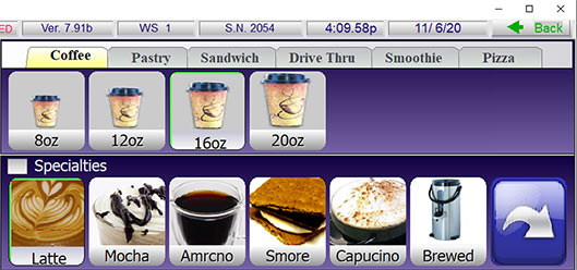Menu Groups in SelbySoft POS