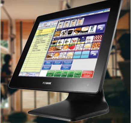 A picture of an All in One POS with SelbySoft loaded.