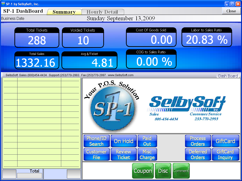 SelbySoft dashboard