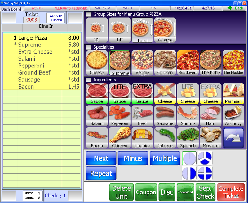 Pizza | Restaurant | POS Software - SelbySoft, Inc